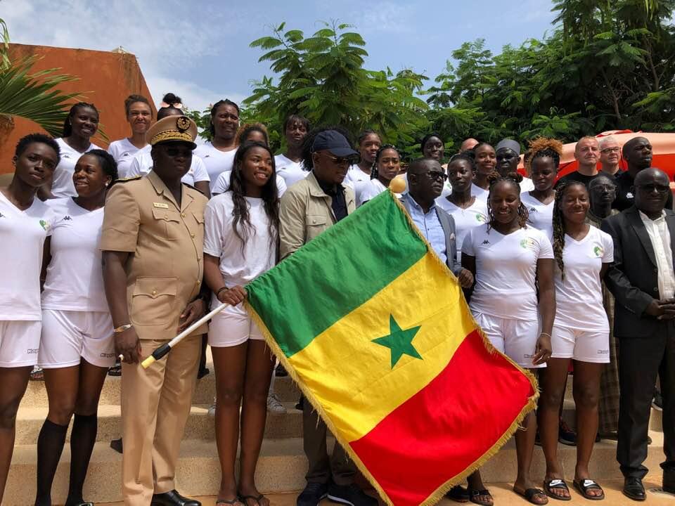 Handball féminin - TQO Dakar2019 : Les « Lionnes » ont reçu le drapeau des mains de Matar Ba