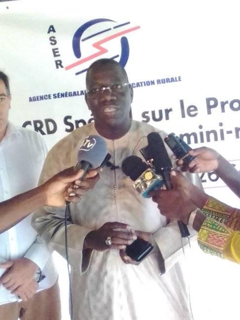 Baba Diallo DG aser « en 2014 Kolda figurait dans la zone rouge avec un taux d'électrification moyen autour de 7%...et nous avons retenu 85 villages à électrifier dans ce nouveau programme…»
