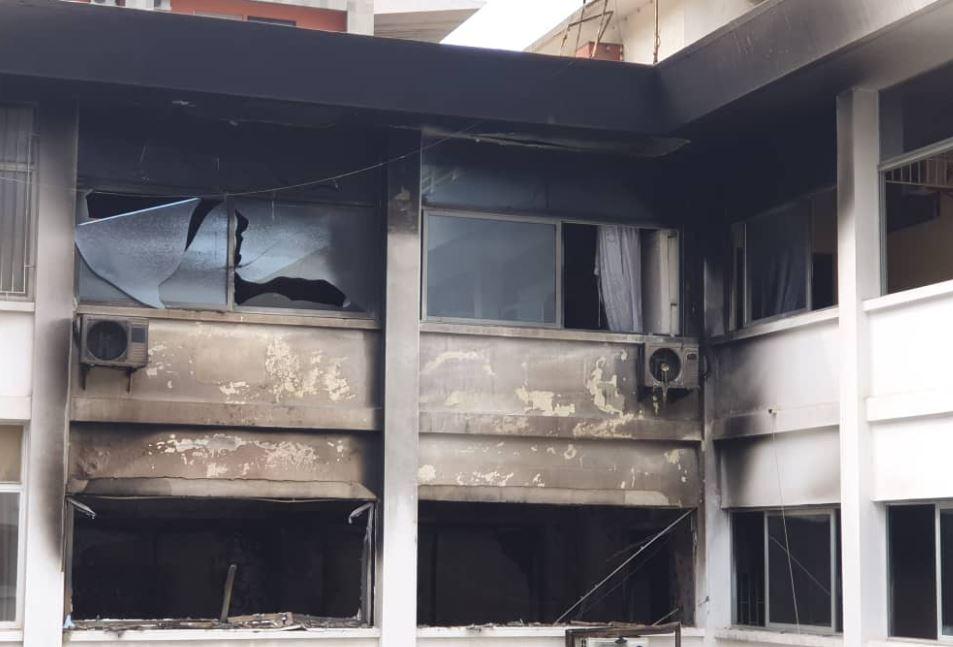 Incendie au Trésor : C'est un bureau qui avait pris feu