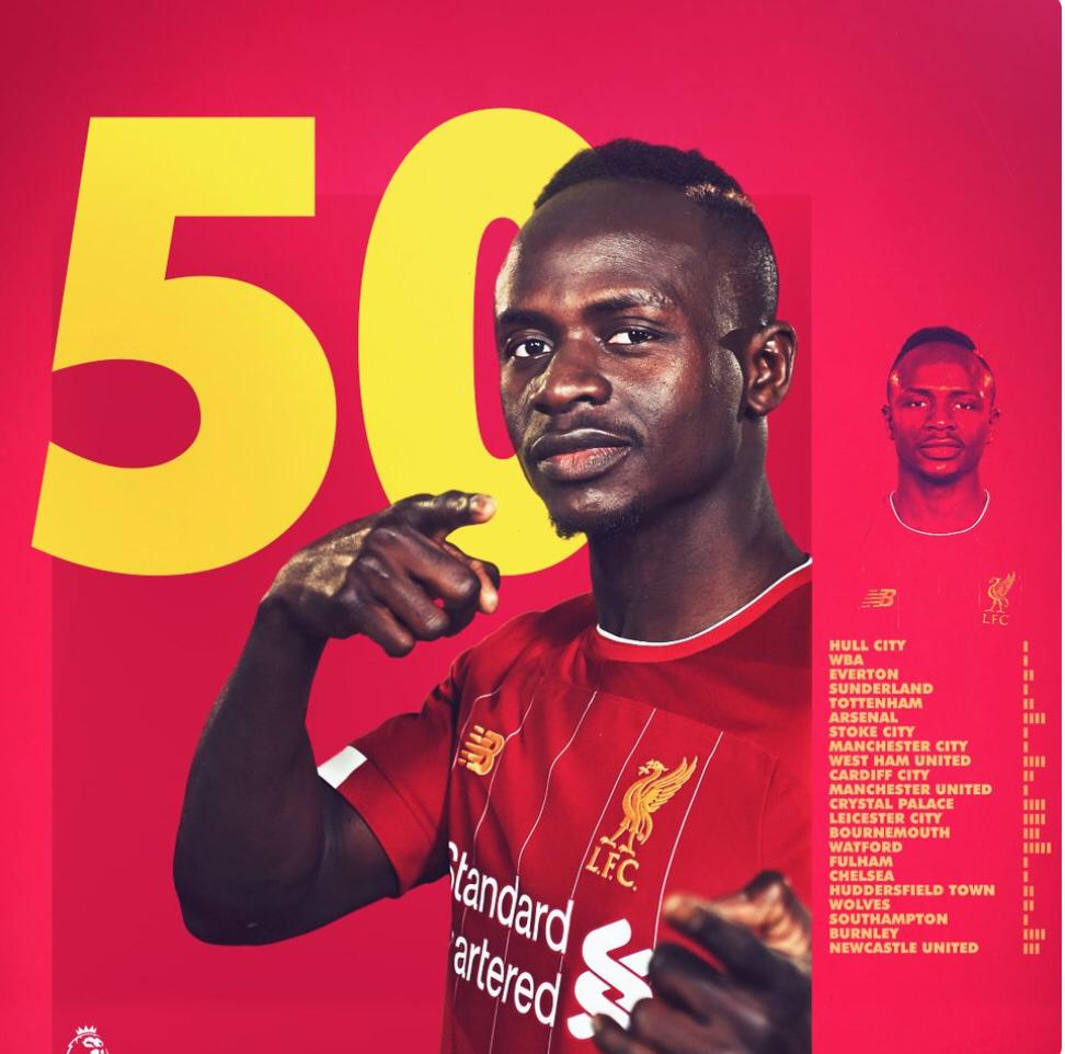 Premier League : Sadio Mané marque son 50e but et offre la victoire à Liverpool contre Leicester (2-1).