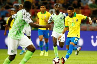 Amical : Le Nigeria accroche un Brésil rapidement privé de Neymar