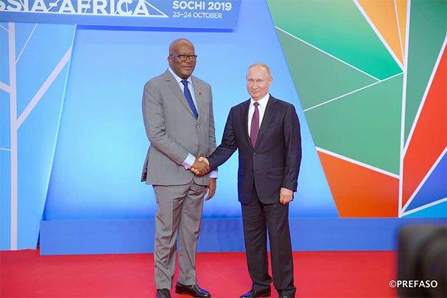 Financement du programme d'investissement du G5 Sahel : Roch Marc Christian Kaboré sollicite la contribution de la Russie.