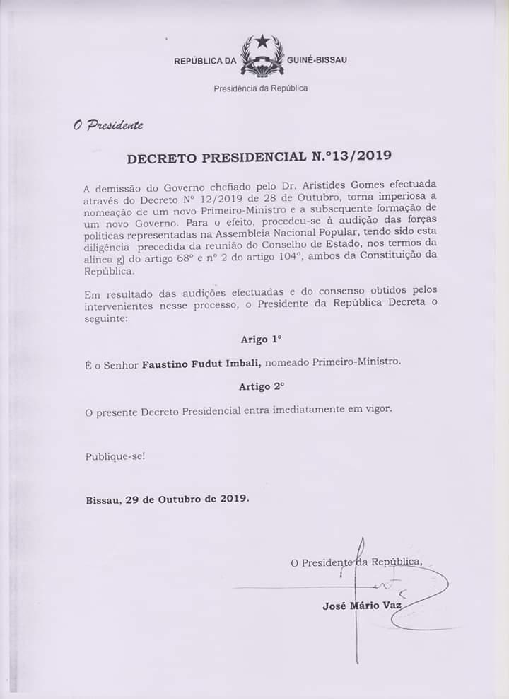 Dernière minute: Le président Jomav a nommé un nouveau Premier ministre