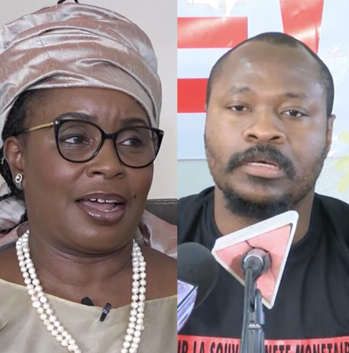 """Coordination de la plateforme """"AAR LI NU BOKK"""" : Guy Marius Sagna et Ndèye Fatou Diop Blondin prennent le relais."""