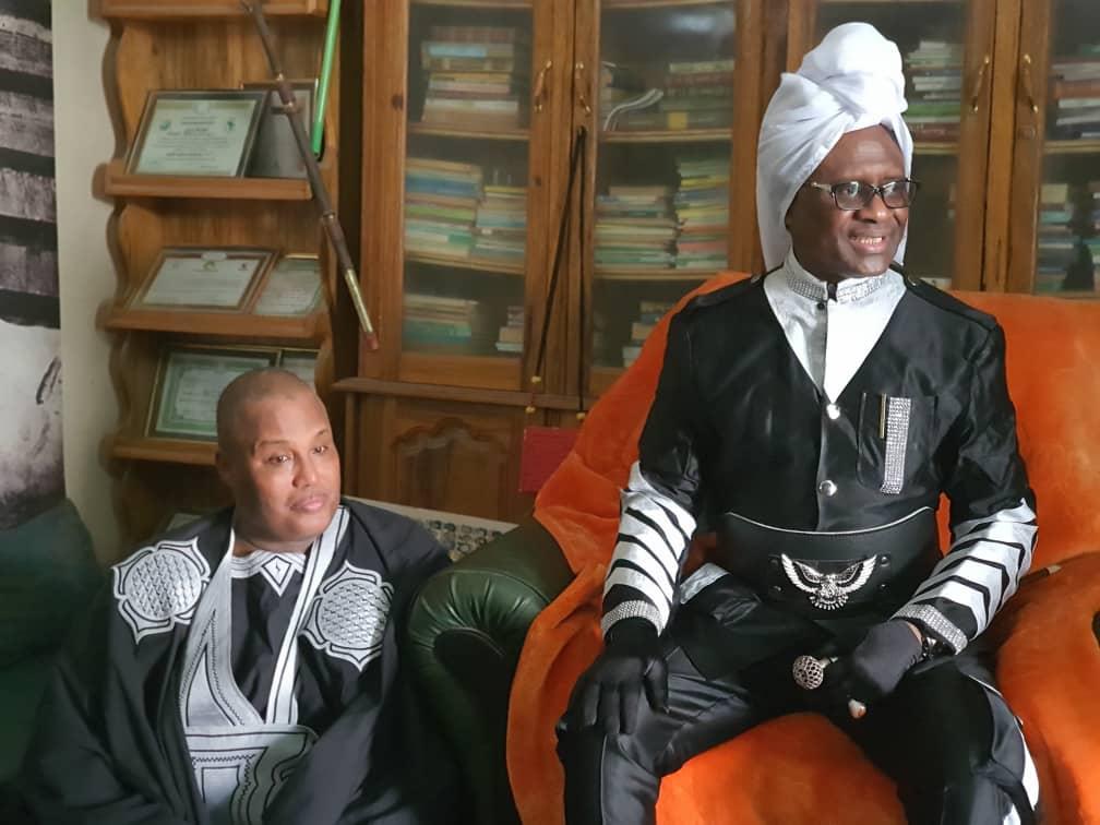 Les images de la visite de Serigne Modou Kara Mbacké Noreyni à son ami Ahmed Saloum Dieng à THIES