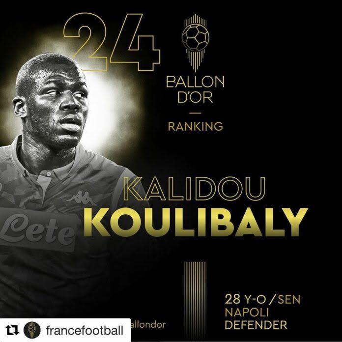 Ballon d'Or 2019 : Kalidou Koulibaly classé 24e