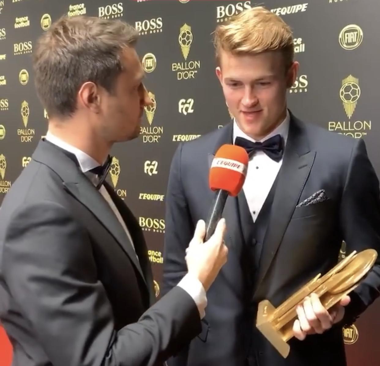 Ballon d'Or : Matthijs de Ligt remporte le trophée Kopa 2019.