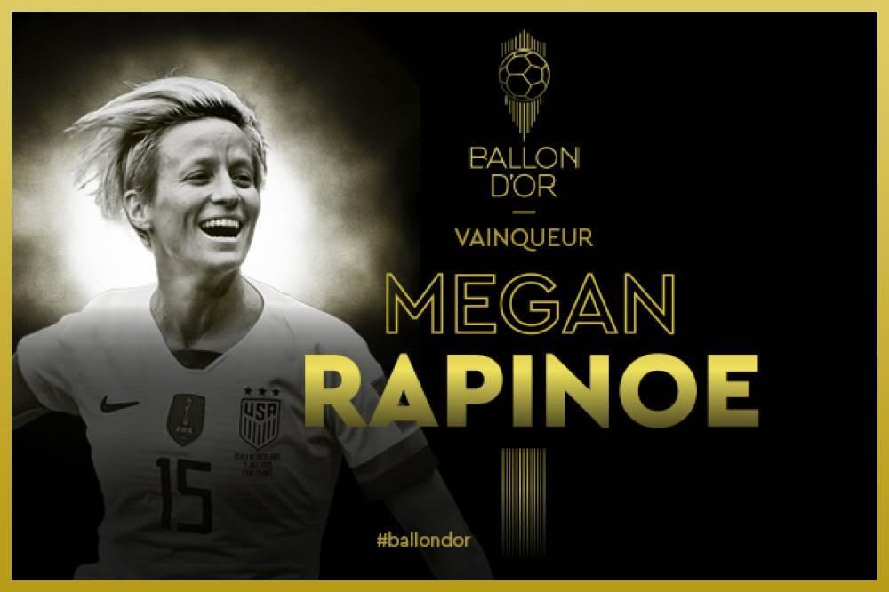 Ballon d'Or Féminin FF 2019 : Megan Rapinoe couronnée.