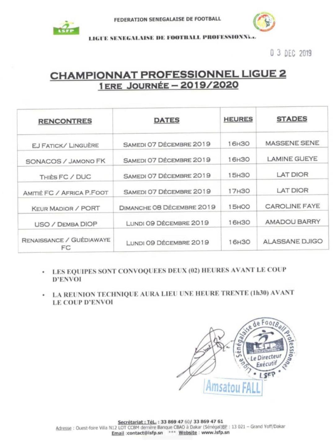Ligue 2 / Programme complet de la première journée