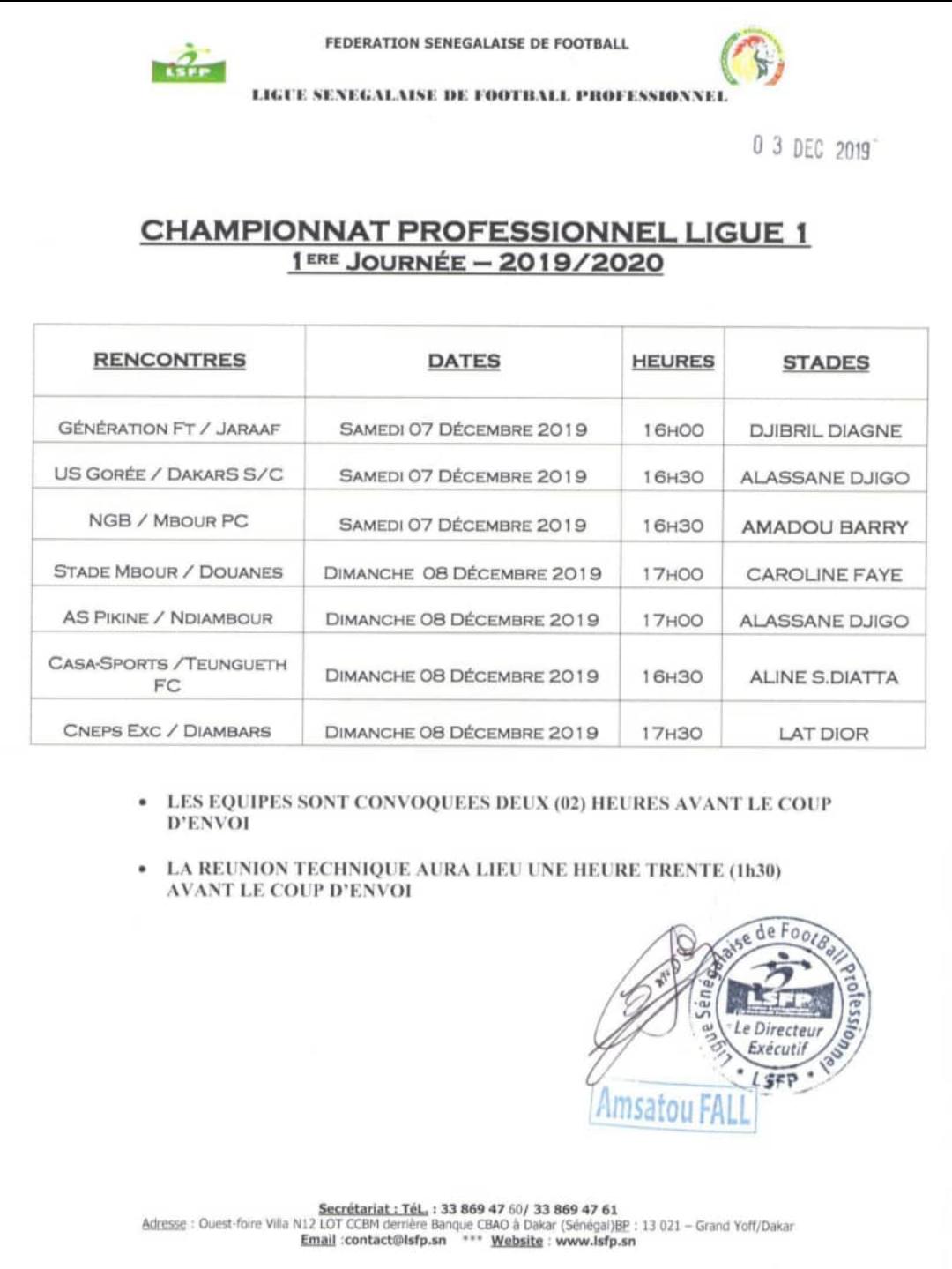 Démarrage ligue 1 / Programme complet : Le champion en titre Génération Foot recoit le Jaraaf,  choc entre le Casa et Teungueth FC, l'US Gorée accueille DSC…