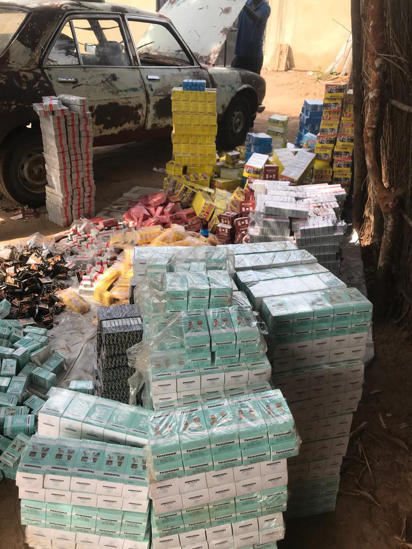 De faux médicaments d'une valeur de 46 millions de francs CFA saisis mercredi, par la Douane de Karang.
