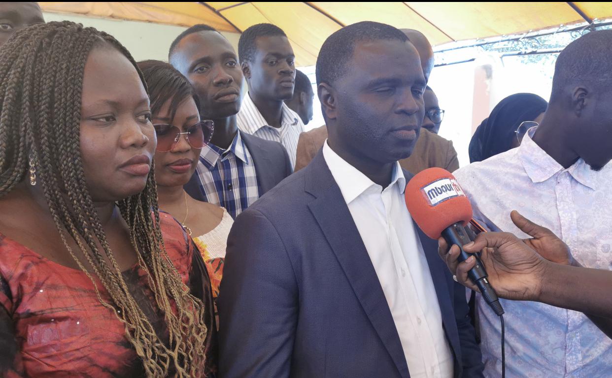 """MBOUR : """"Il faut que les jeunes croient en eux, croient à la possibilité de réussir dans ce pays là"""" (Lamine Ndiaye, chargé de com de la Cojer communale)"""