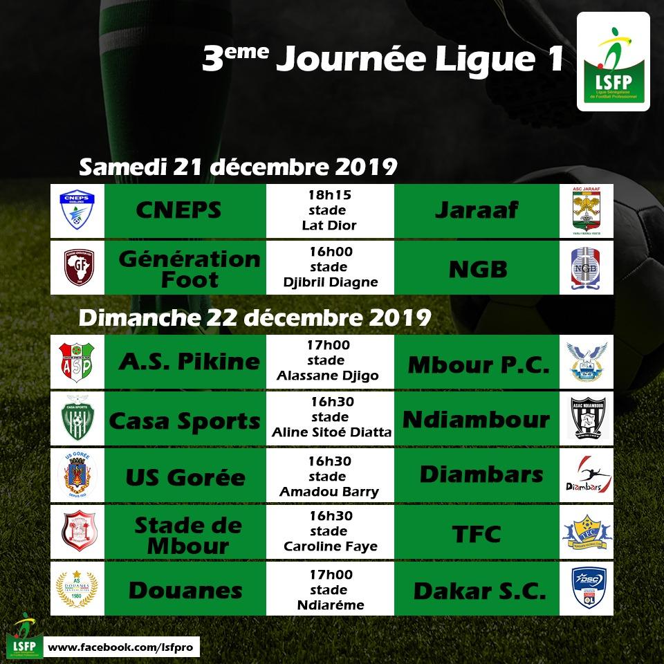 Ligue 1 / Programme 3ème journée : Le leader Dakar-Sacré-Cœur se déplace à la Douane, GF reçoit Niary Tally, duel de lanternes rouges entre Jaraaf et le Cneps…