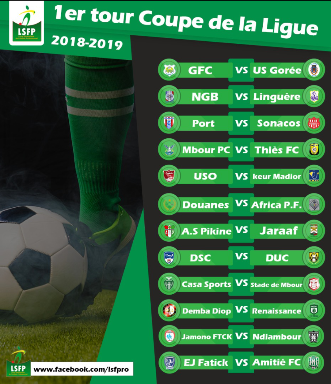 Tirage au sort Coupe de la Ligue 2020 : Des affiches de rêve et 15 millions FCFA pour le vainqueur.