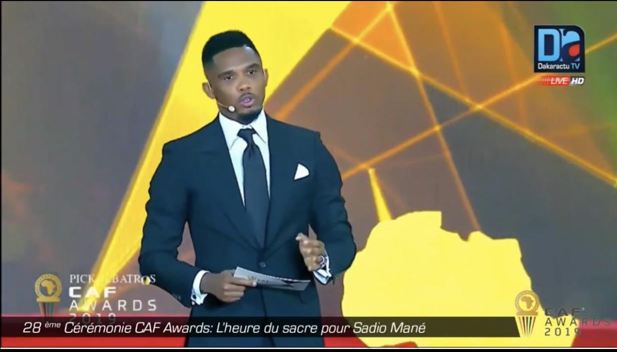 CAF Awards 2019 / Le tacle glissé de Samuel Eto'o aux absents Salah et Mahrez...