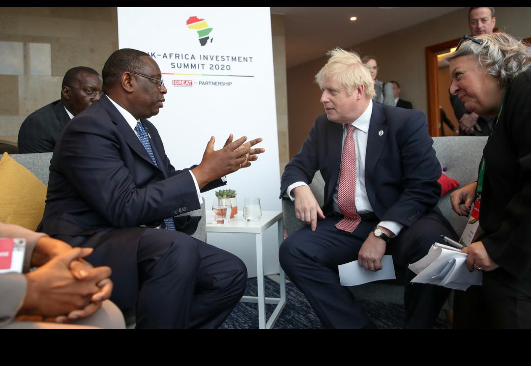 Sommet Royaume Uni Afrique sur l'investissement : Macky Sall et Boris Johnson pour la redynamisation de la coopération économique entre le Sénégal et le Royaume Uni.