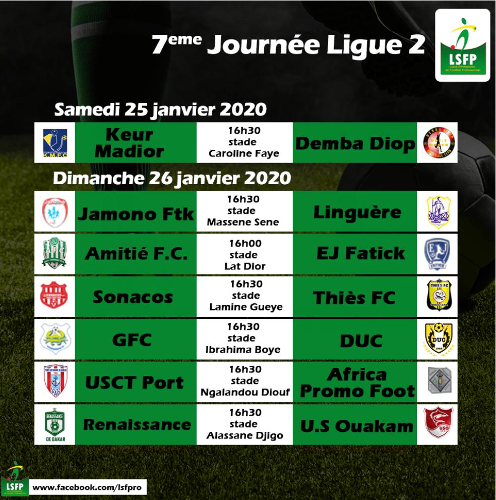 Programme 7ème journée Ligue 2 : Le trio de tête à l'assaut du milieu de tableau.