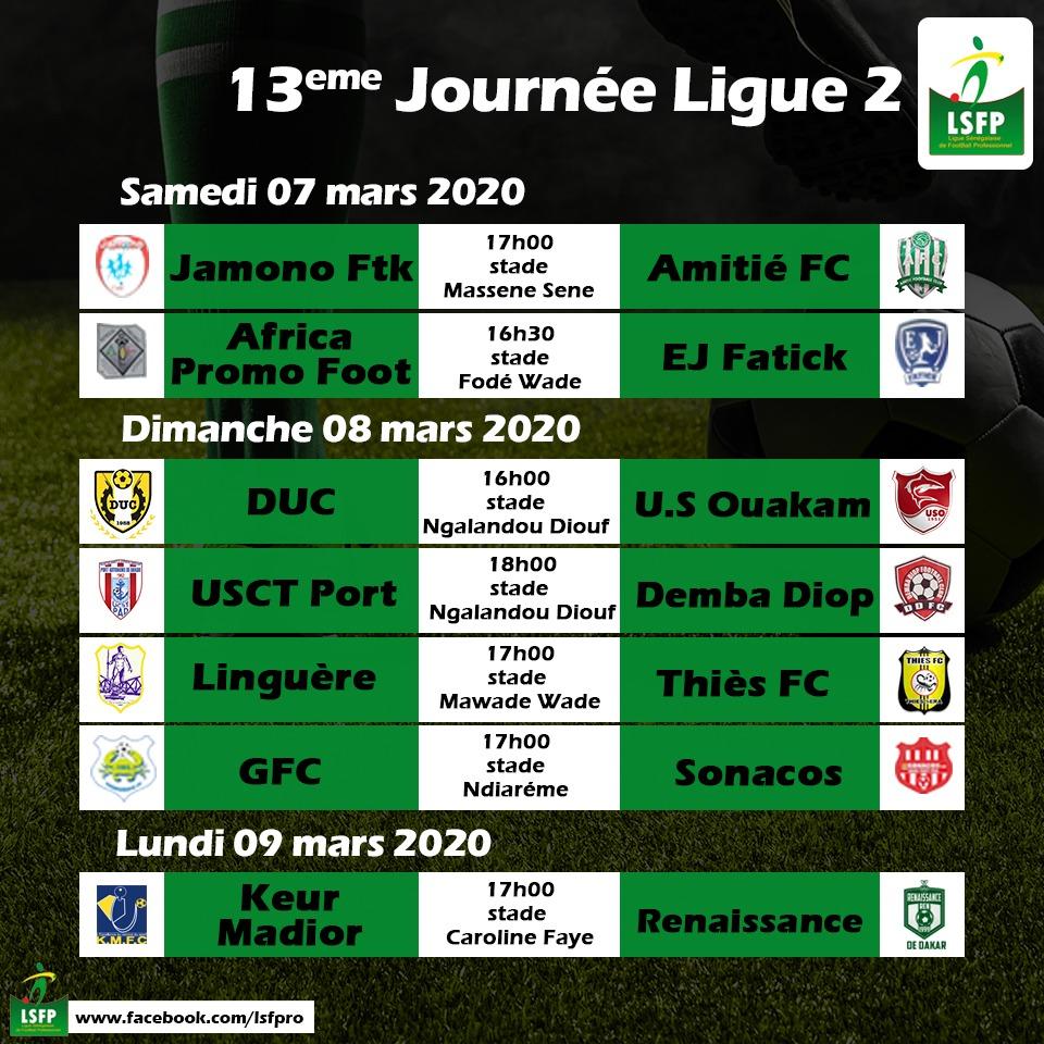 Ligue 2 / Programme de la 13ème journée : Duels de positionnement en perspective, au sommet, avant la trêve…