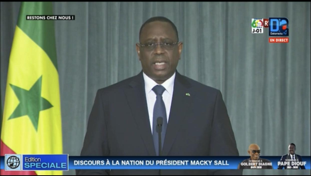 Macky Sall : «La croissance économique est brutalement freinée et passera de 6,8% à moins de 3%»