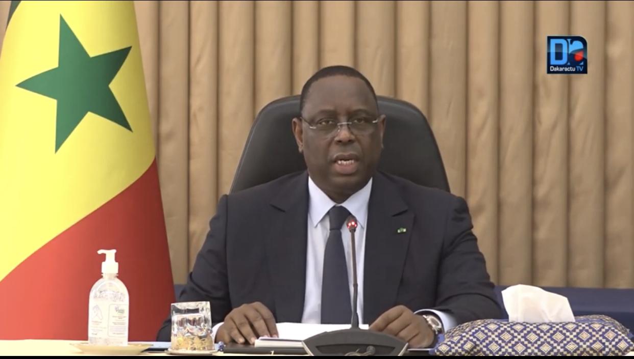 Covid-19 : L'état d'urgence et le couvre-feu prorogés jusqu'au 4 mai 2020 au Sénégal.