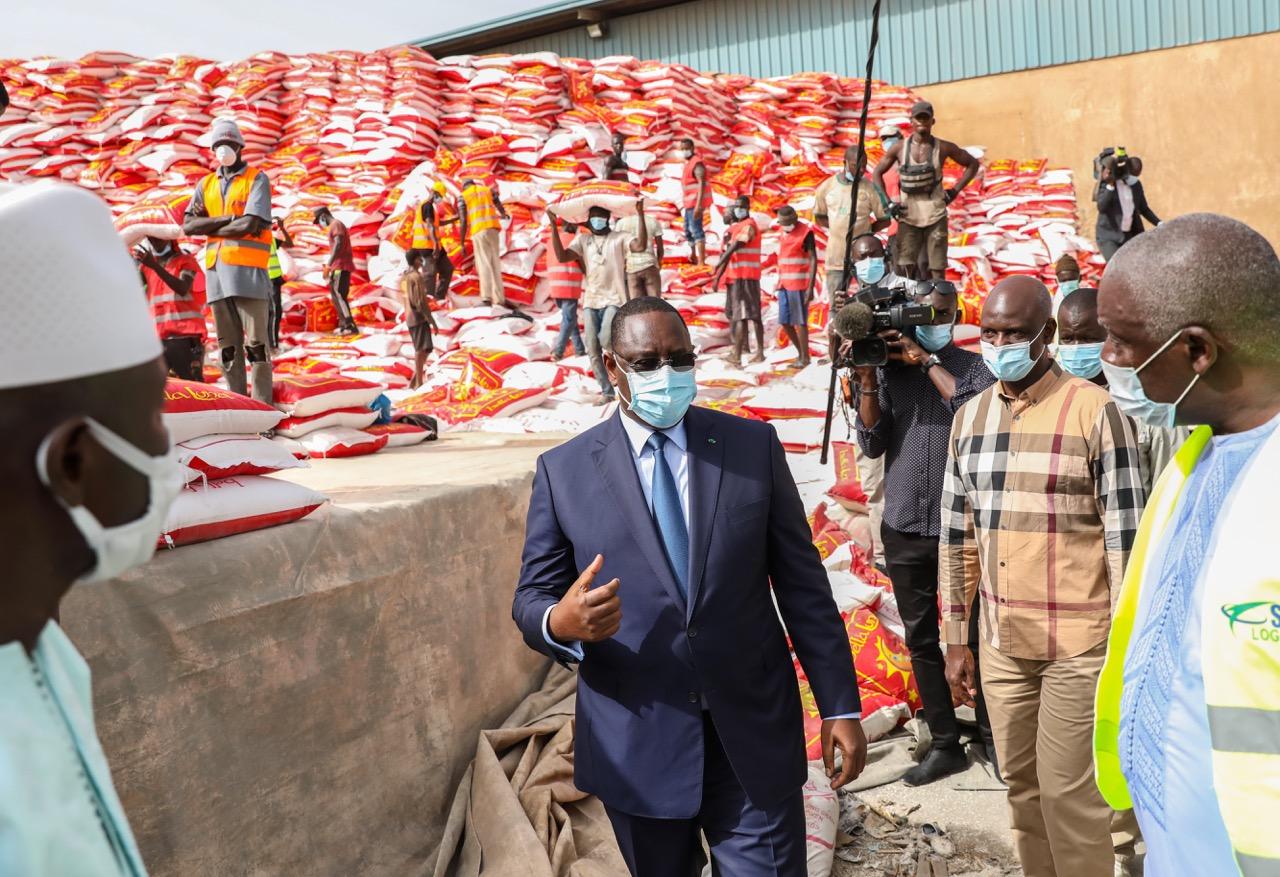 Distribution de l'aide alimentaire :  Le président Macky Sall lance officiellement  l'opération de convoyage du riz à l'intérieur du pays.