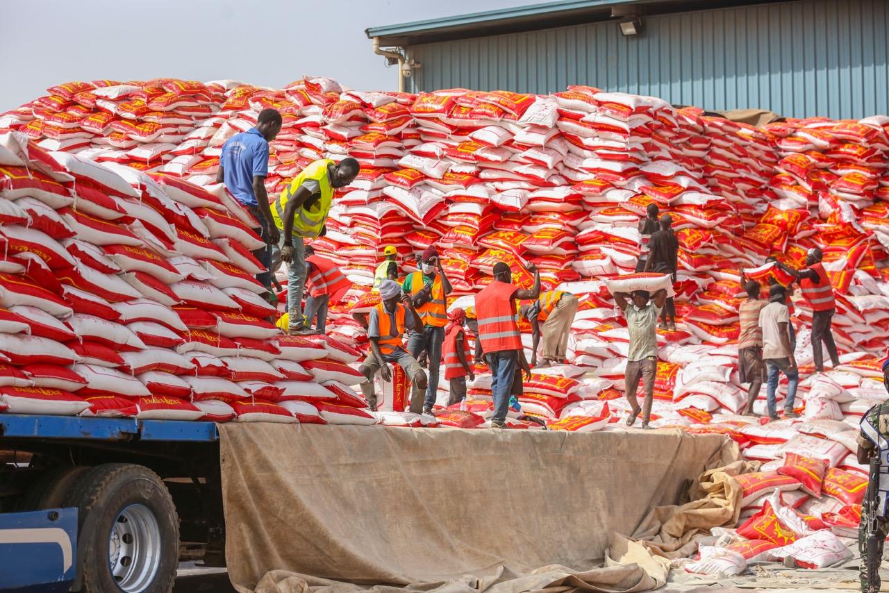 KOLDA : Les premiers camions de l'aide alimentaire sont arrivés.