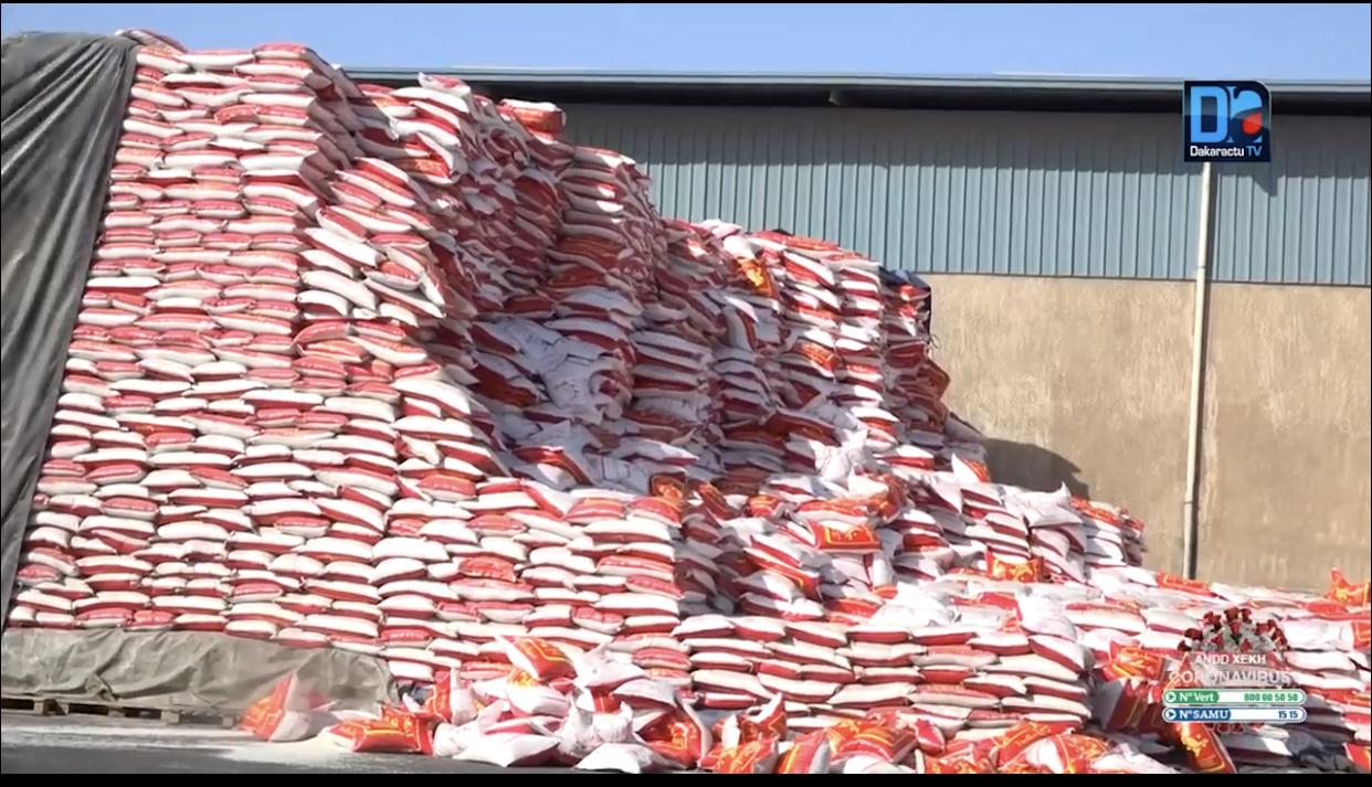 Aide alimentaire : Sur 3.960 tonnes de riz, Kaffrine a reçu son premier lot de 410 tonnes.