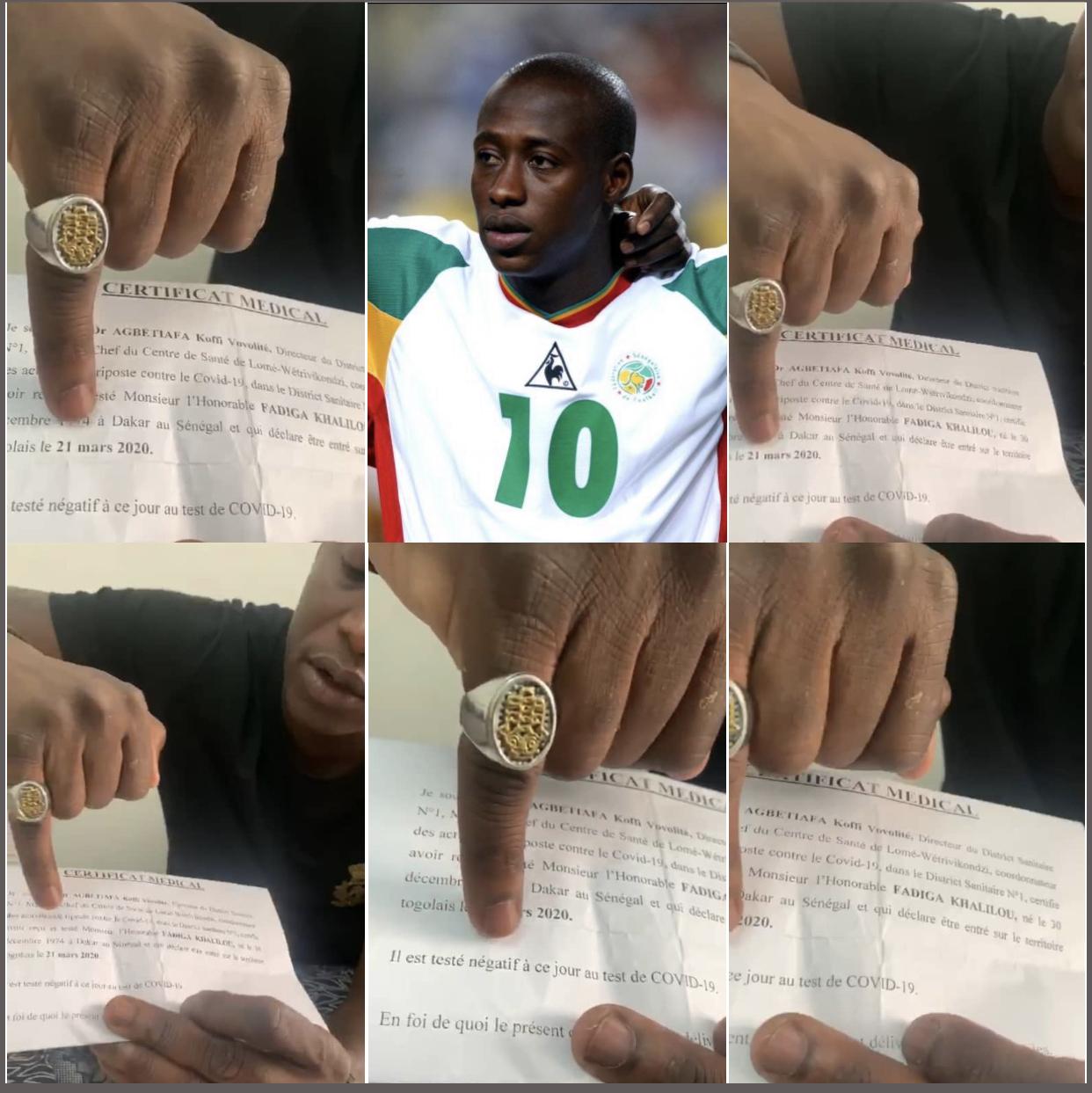 Freiné et mis en quatorzaine alors qu'il tentait d'entrer au Sénégal sans respecter les procédures : Khalilou Fadiga se victimise et s'attaque à la presse.