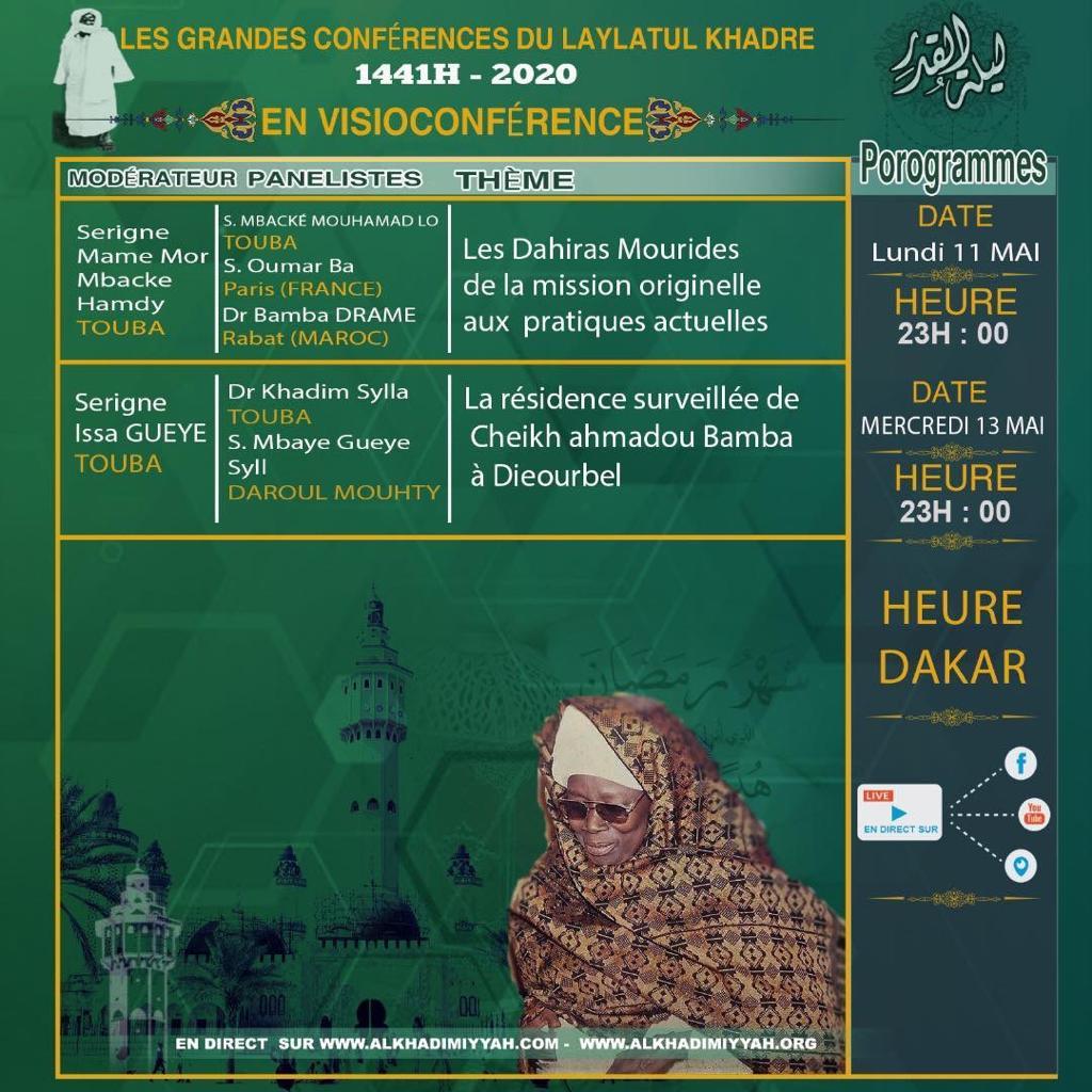 TOUBA / Les Grandes Conférences du Laylatul Qadr s'ajustent à la pandémie du Covis-19 ( EN DIRECT SUR DAKARACTU)