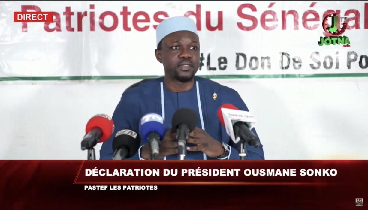 COVID-19 AU SÉNÉGAL : Ousmane Sonko décortique les «failles» du programme établi par le président Macky Sall.