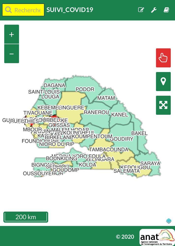 Suivi épidémique : Au Sénégal, 26 départements sur 45 ne comptent aucun malade de coronavirus.