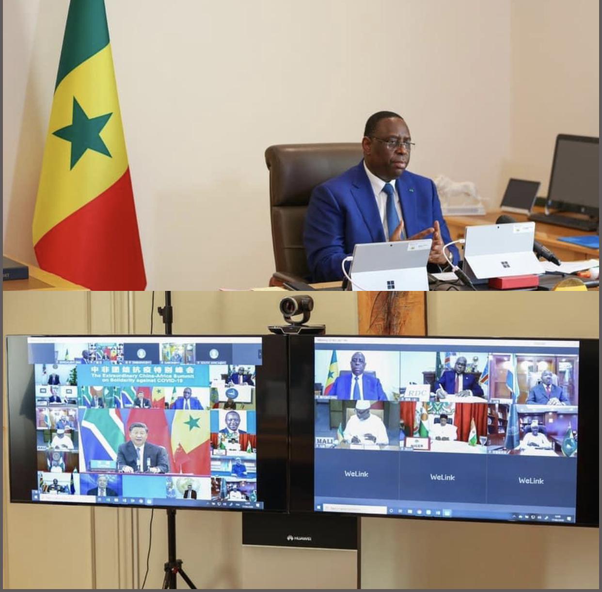 Chine-Afrique : L'essentiel du discours du président Macky Sall sur la solidarité contre la Covid-19.