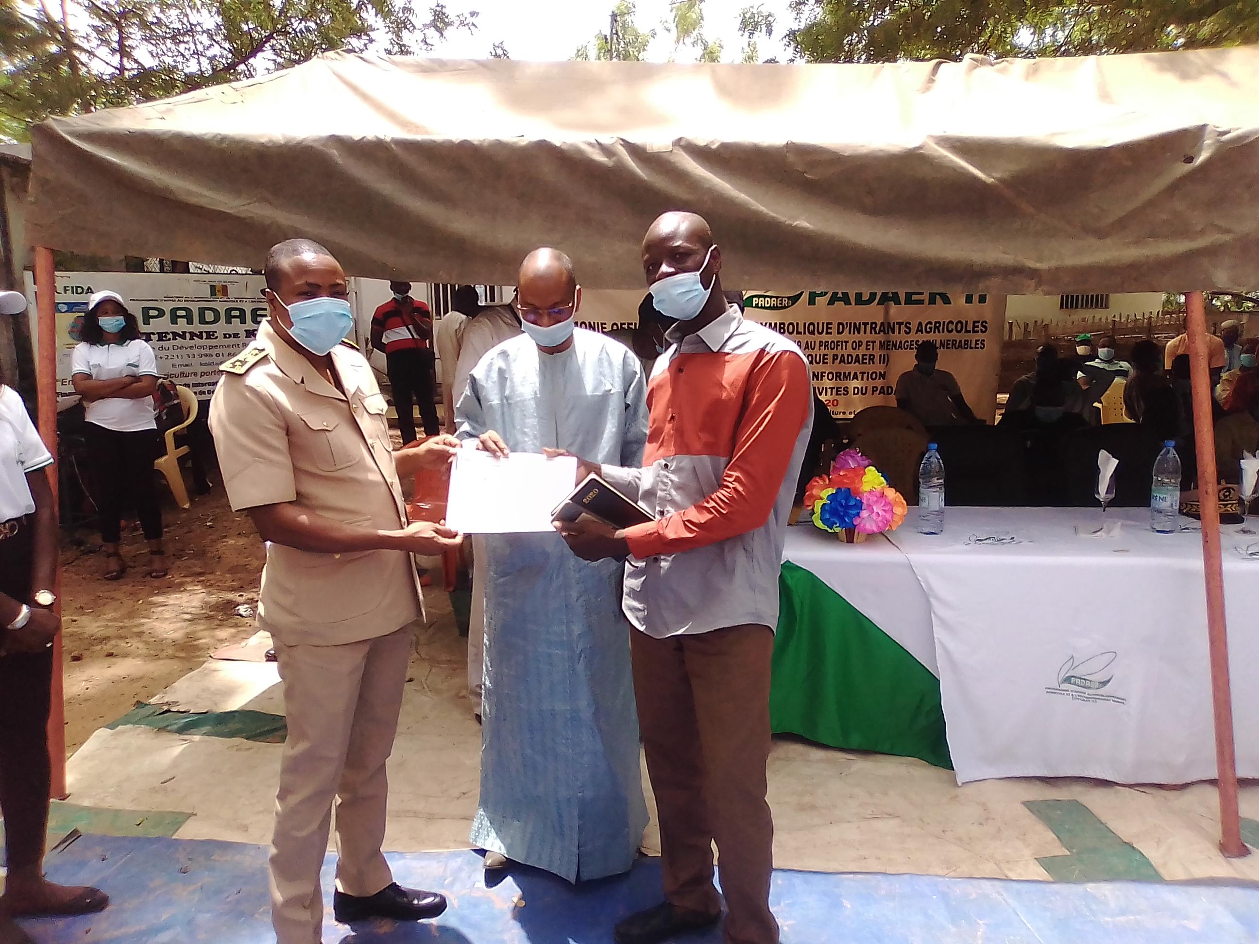 Lutte contre la covid-19 : Les organisations paysannes (OP) de Kolda reçoivent des bons d'intrants.
