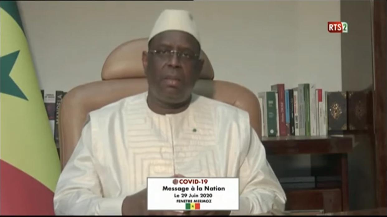 """Adresse à la nation / Le Président Macky Sall : """"Nos performances dans la lutte contre la Covid-19 sont considérables"""""""