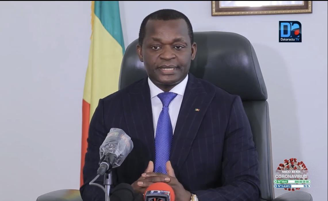 COVID-19 : Le ministre Alioune Sarr placé en quarantaine.