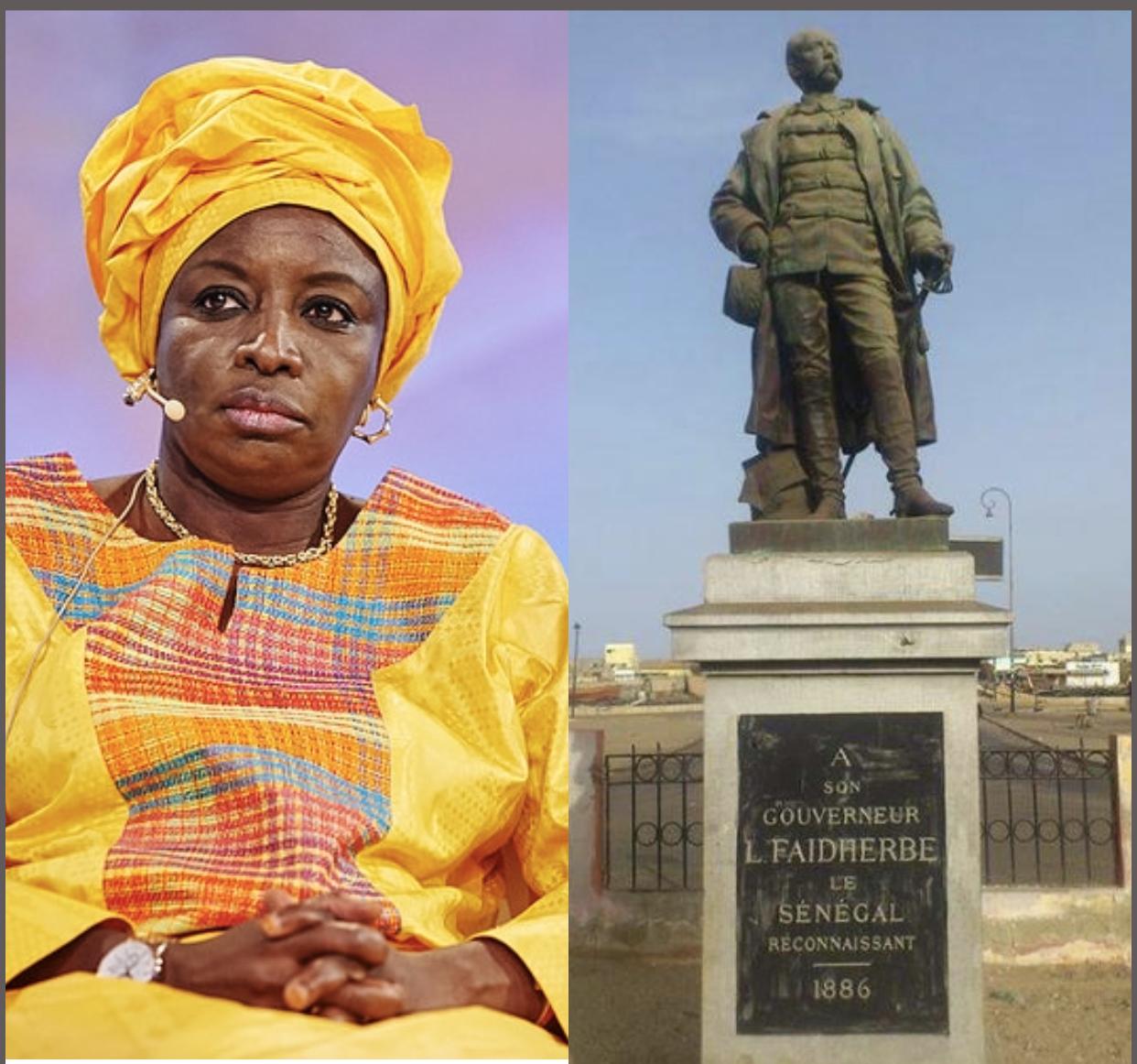 Aminata Touré pour le deboulonnement de la statue de Faidherbe.