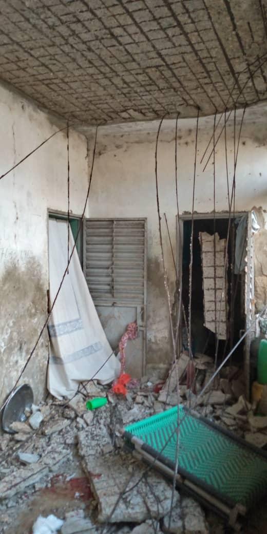 Kaolack / Tabangoye 2 : La dalle d'un bâtiment s'affaisse et fait deux blessés.