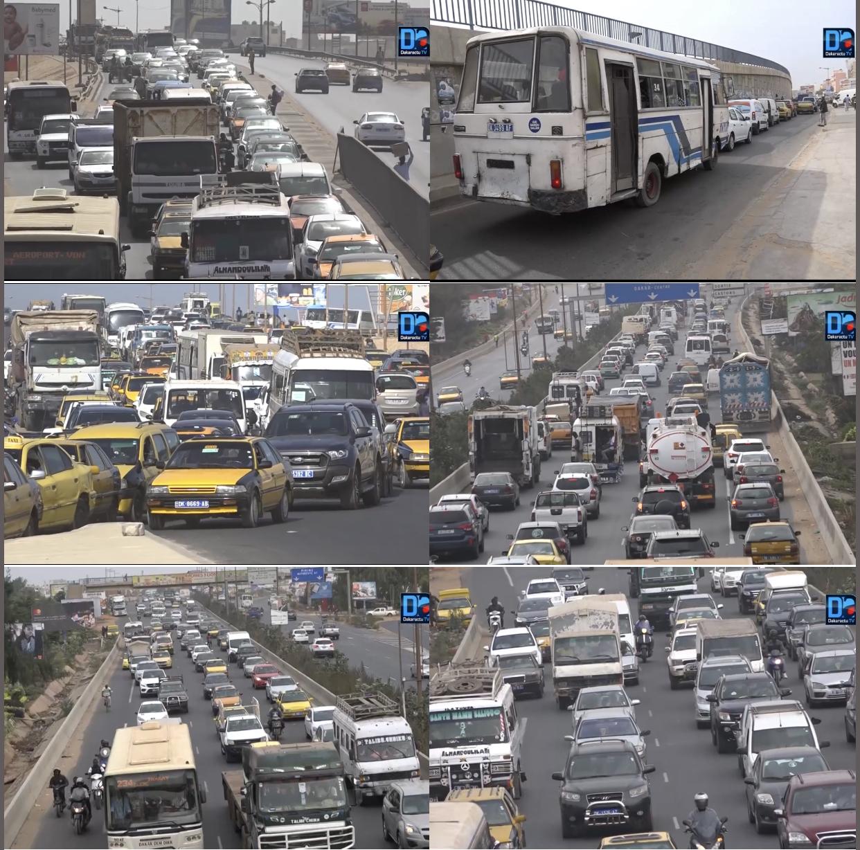 Circulation routière : Dakar de plus en plus embouteillée à l'approche de la Tabaski.