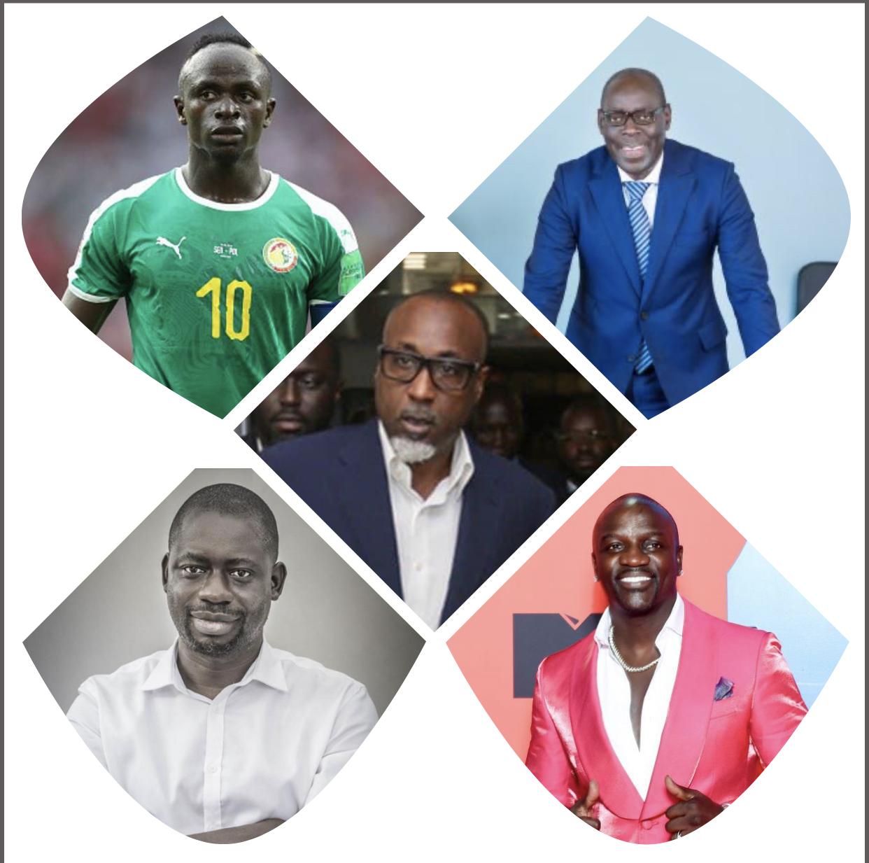 Akon, Sadio Mané, Alioune Ndiaye, Felwine Sarr et Yérim Sow parmi les 100 africains influents dans le monde.