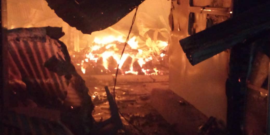 Kaolack : Grave incendie au marché central.