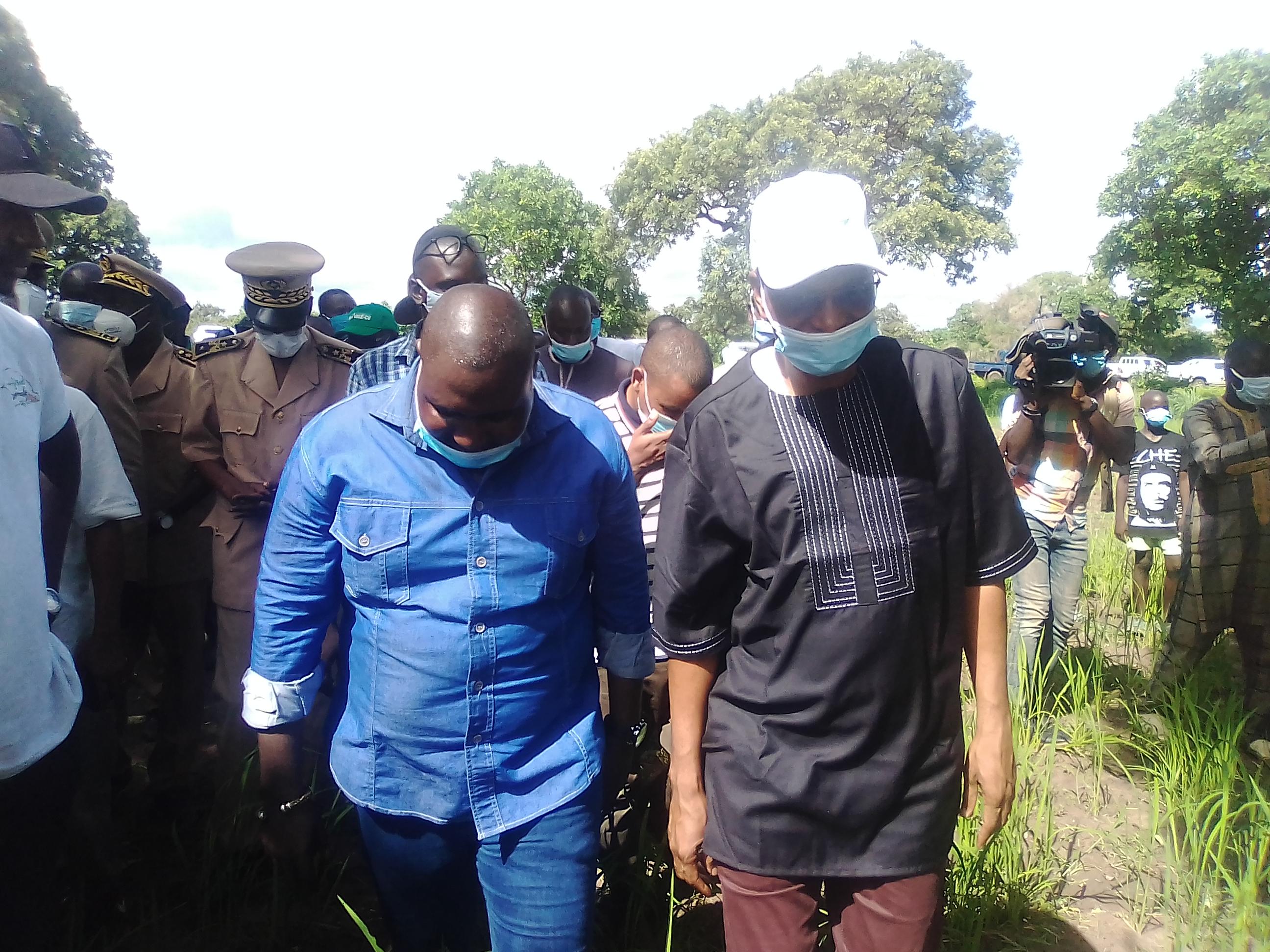 Tamba / Tournée de suivi agricole du MAER : « Notre défi c'est de mobiliser la jeunesse sénégalaise autour de l'agriculture... Les meilleures vacances sont celles de l'agriculture » (Pr. Moussa Baldé)
