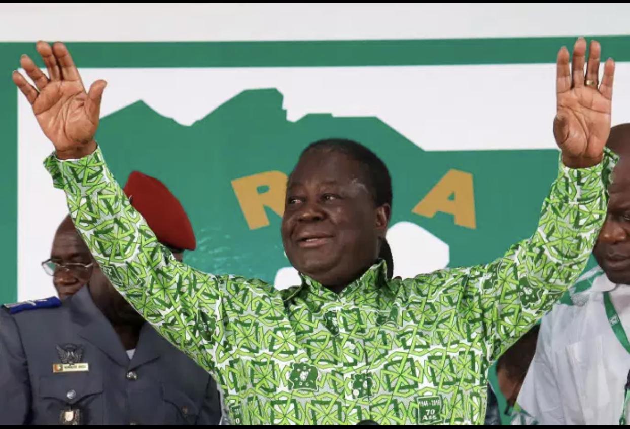 Présidentielle en Côte D'Ivoire : À 86 ans, Henri Konan Bédié investi par son parti.