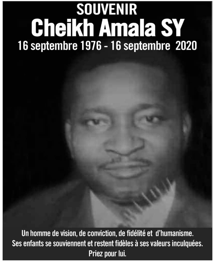 Souvenirs: Cheikh Amala SY 16 sep 1976 - 16 sep 2020