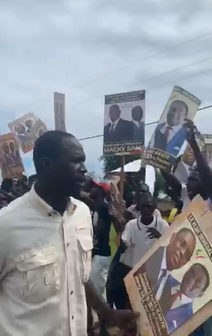 TOURNEE AGRICOLE DU Pr :Dr Cheikh Kanté et le Ministre d'Etat Mahamet Dione gagnent le pari de la Mobilisation à Fatick.
