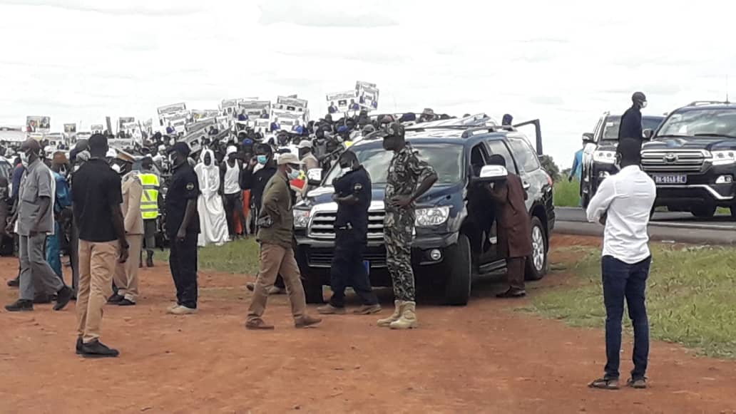 Nioro : Les premières images de la visite du chef de l'État dans les champs.