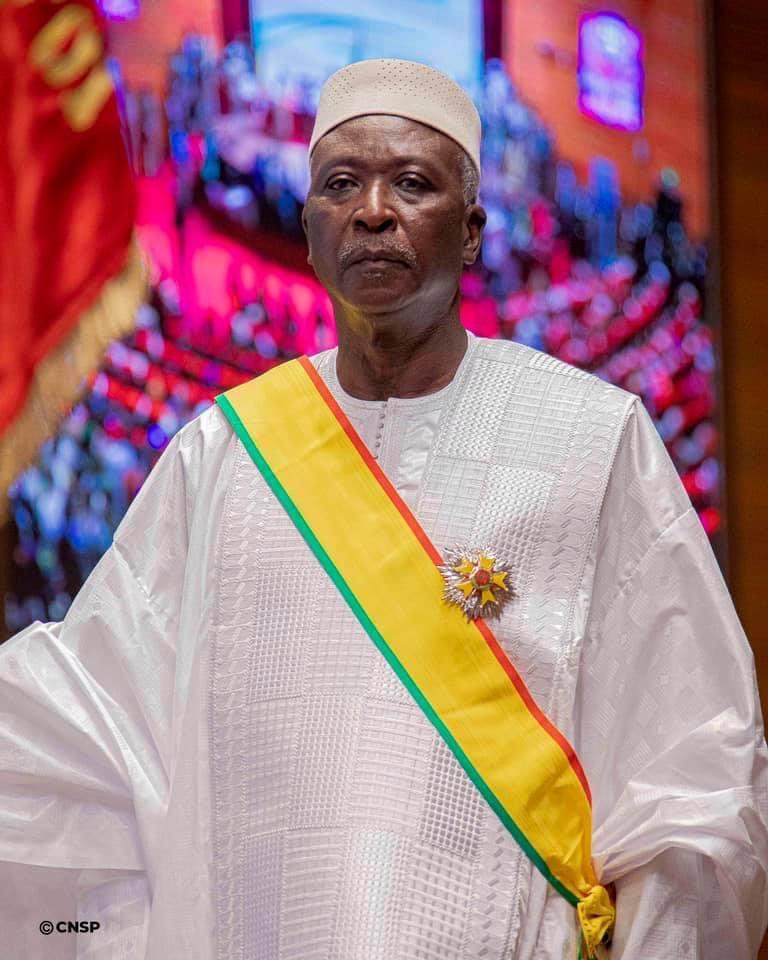 Mali : La profession de foi du président de la Transition, le Colonel Major Bah N'daou.