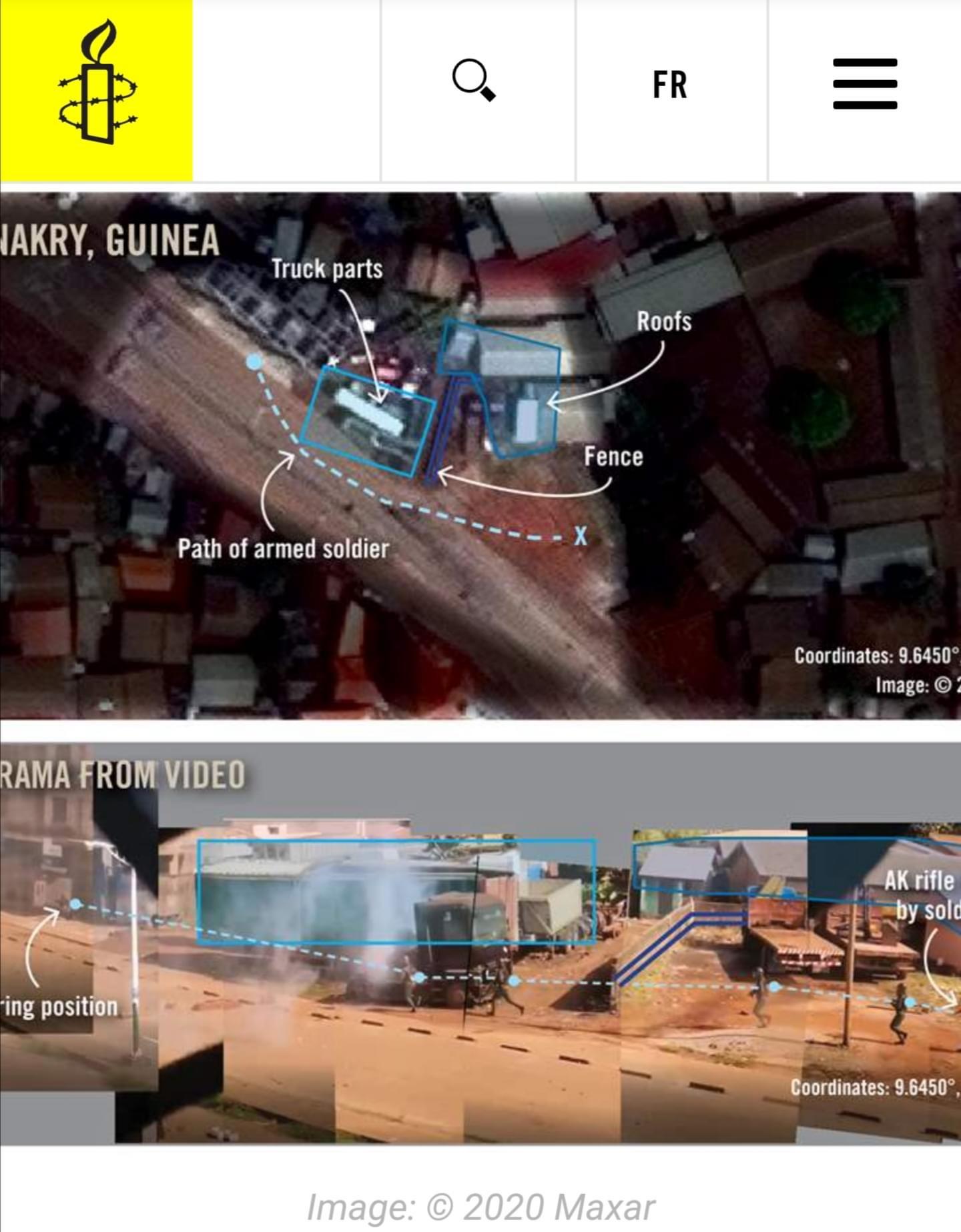 Violences post-électorales en Guinée : Les preuves d'Amnesty International qui accablent les Forces de défense et de sécurité.