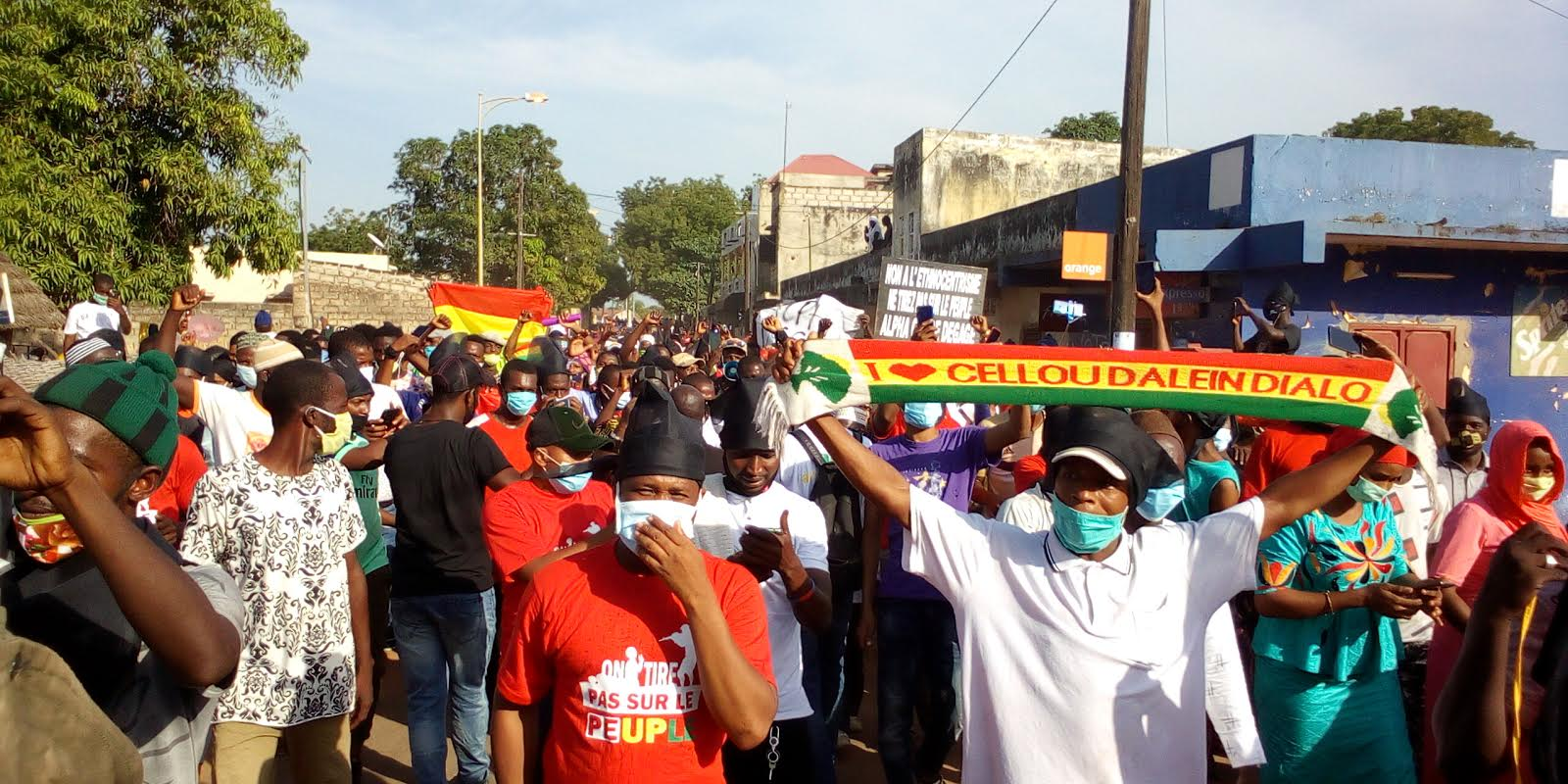 KOLDA : Marche pacifique de l'UFDG contre le troisième mandat d'Alpha Condé.