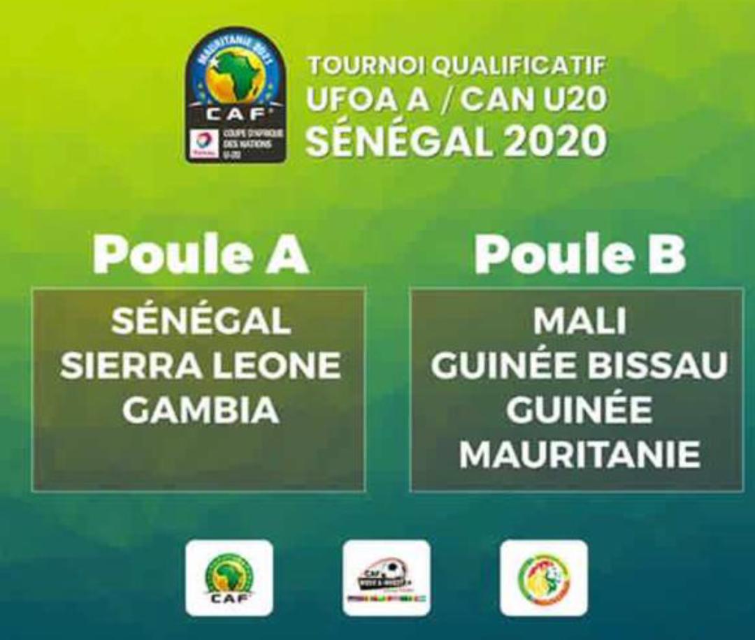 Tirage au sort tournoi qualificatif UFOA A / CAN U20 : Les Lionceaux atterrissent dans le groupe A.