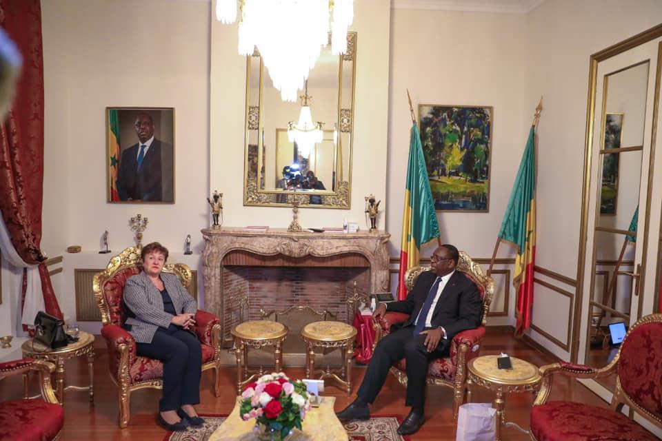 Paris / Emploi des jeunes : Le président Macky Sall a reçu en audience la Directrice Générale du FMI